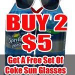 Sprite 1.5L 2pack Including Coke Glasses