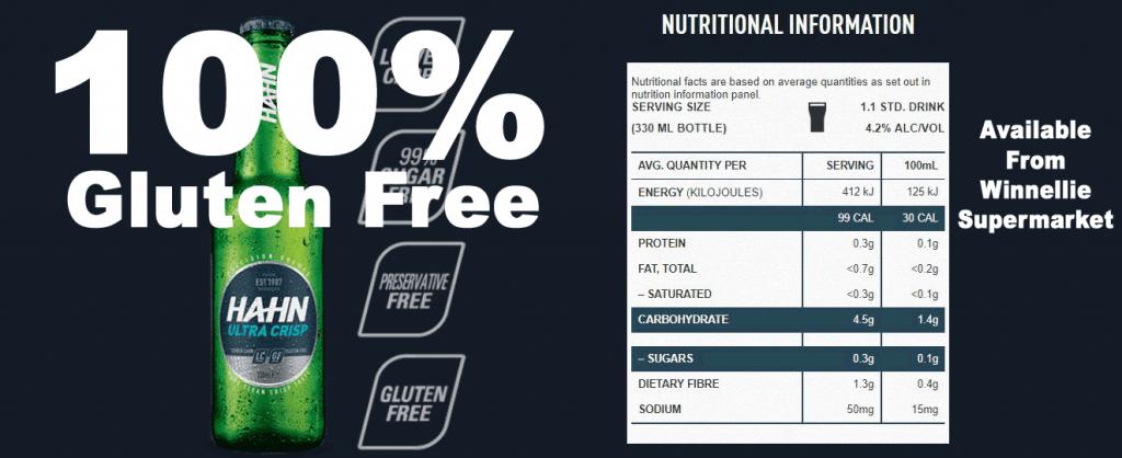 100% gluten free beer available from Winnellie Supermarket Darwin